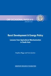 Rural Development & Energy Policy - Observer Research Foundation