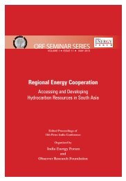 Regional Energy Cooperation - Observer Research Foundation