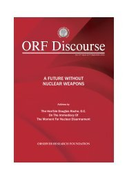 A Future without Nuclear Weapons - Observer Research Foundation