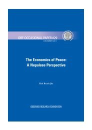 Economics of Peace: A Nepalese Perspective - Observer Research ...