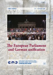 The European Parliament and the unification of Germany - Europa
