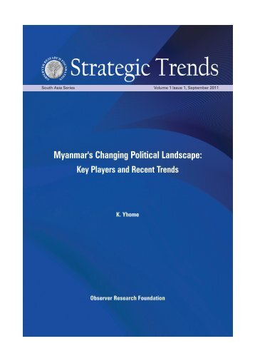 Myanmar's Changing Political Landscape - Observer Research ...