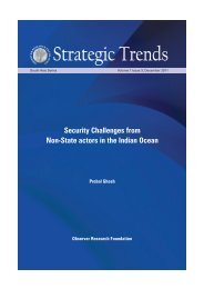 Security Challenges from Non-State actors in the Indian Ocean
