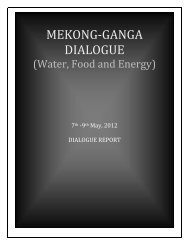 MEKONG-GANGA DIALOGUE - Observer Research Foundation