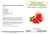Rezepte mit Erdbeeren - Obst Obstbau Apfel Äpfel Birnen Spargel ...