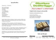 Infos und Rezepte - Obst Obstbau Apfel Äpfel Birnen Spargel ...