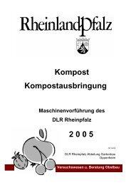 Kompost Kompostausbringung 2 0 0 5 - Obstbau