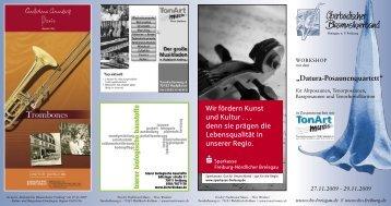 """""""Datura-Posaunenquartett"""" Wir fördern Kunst und ... - OBV Breisgau"""