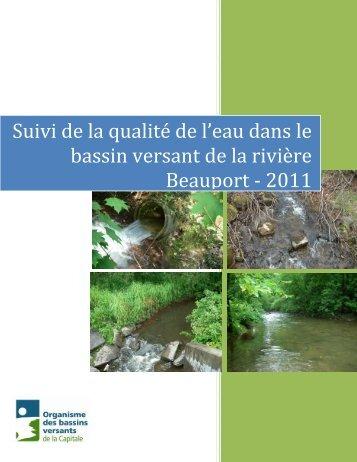 Qualité de l'eau dans le bassin versant de la rivière Beauport
