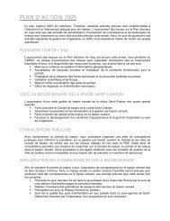 Plan d'action 2005 - Organisme des bassins versants de la Capitale ...