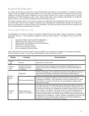 plan d'action 2007 - Organisme des bassins versants de la Capitale ...