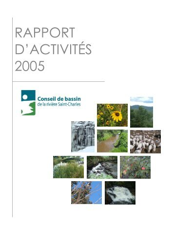 rapport d'activités 2003 - Organisme des bassins versants de la ...