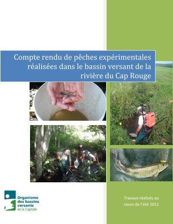 Compte rendu de pêches expérimentales réalisées dans le bassin ...