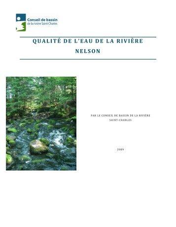 Qualité de l'eau de la rivière Nelson - Organisme des bassins ...