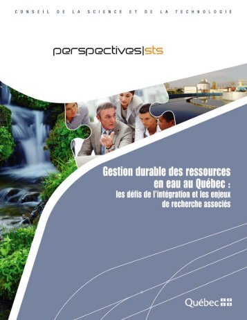 Gestion durable des ressources en eau au Québec: les défis de l ...