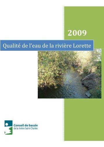 Qualité de l'eau de la rivière Lorette - Organisme des bassins ...