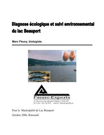 diagnose lac Beauport 2006 - Organisme des bassins versants de la ...