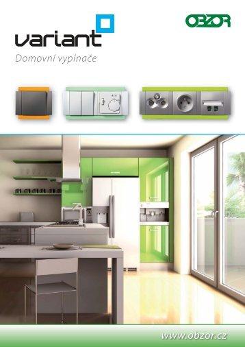 Nový katalog domovních vypínačů Variant - OBZOR, výrobní ...