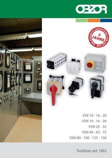 Katalog Nockenschalter 2011 - OBZOR, výrobní družstvo Zlín