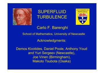 SUPERFLUID TURBULENCE