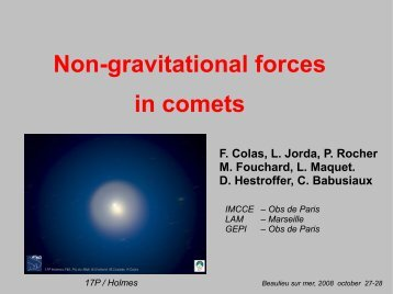 Non-gravitational forces in comets
