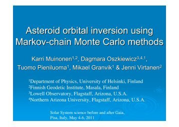 Asteroid orbital inversion using Markov-chain Monte Carlo methods