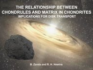 the relationship between chondrules and matrix in chondrites