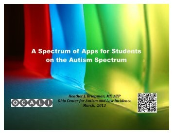Spectrum of Apps - Ohio Center for Autism and Low Incidence
