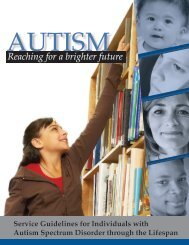 Service Guidelines for Individuals with Autism - Ohio Center for ...