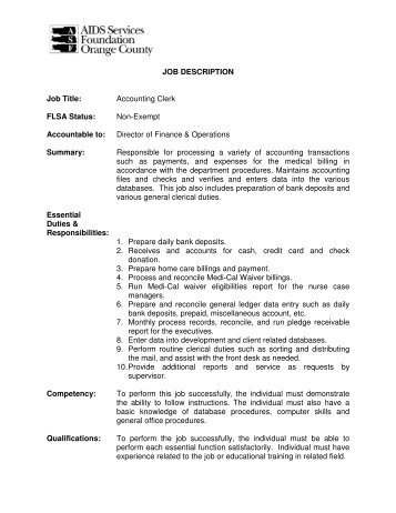 Accounting Assistant Job Description Great Administrative Assistant