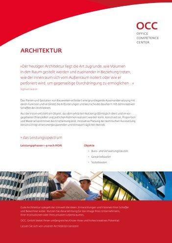 ARCHITEKTUR - OCC. GmbH
