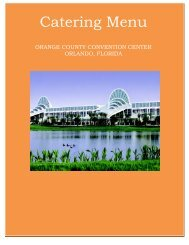 Catering Menu - Orange County Convention Center