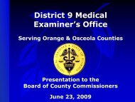 District 9 Medical Examiner's Office - Orange County Comptroller