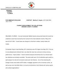 TDT Press Release July 2, 2013 - Orange County Comptroller