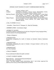 2010-10-05 BCC Meeting Minutes - Orange County Comptroller