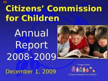 Citizens Commission Children Annual Report - Orange County ...