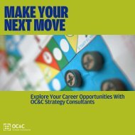 OC&C Strategy Consultants - MAKE YOUR NEXT MOVE