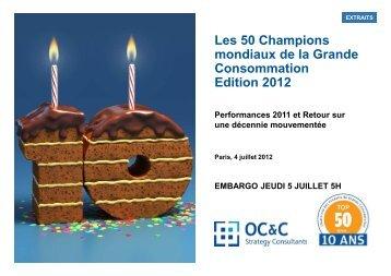 Les 50 Champions mondiaux de la Grande Consommation Edition ...