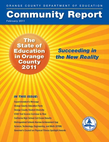 2011 Community Report - Orange County Department of Education