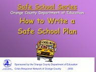 Safe School Series Orange County Department of Education
