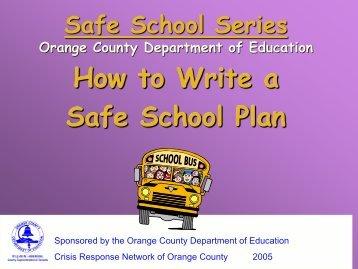 Safe School Series Orange County Department of Education