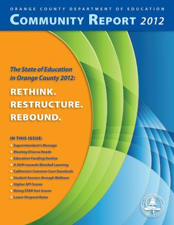 2012CommReport - Orange County Department of Education