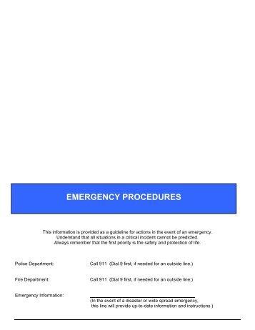 Emergency Procedures - Orange County Department of Education