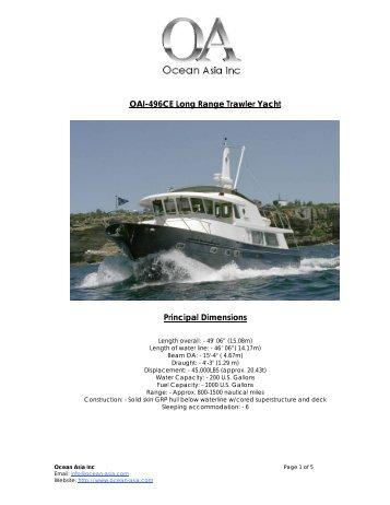 OAI-50 Trawler Yacht - Ocean Asia