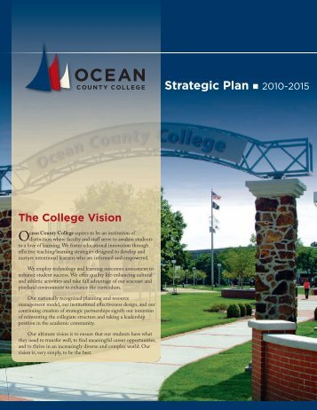 Strategic Plan 2010-2015 - Ocean County College