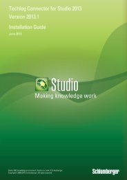 Studio 2013.1 Release Notes - Ocean - Schlumberger