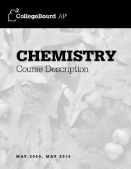 2009, 2010 AP Chemistry Course Description - AP Central - College ...