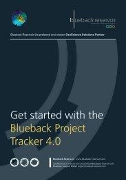 Blueback Project Tracker Getting Started Guide - Ocean