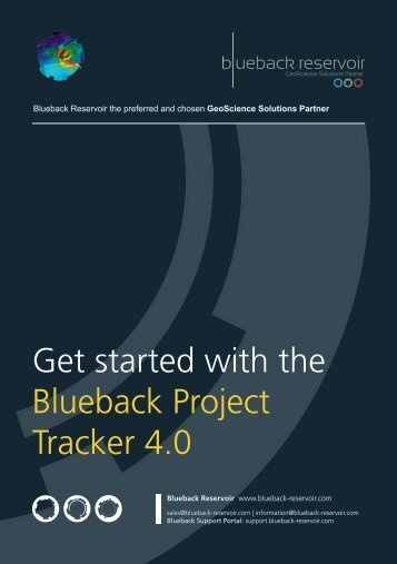 Blueback Project Tracker Getting Started Guide - Ocean