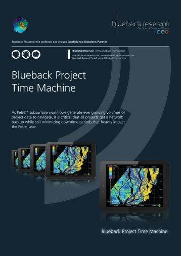 Blueback Project Time Machine Flyer - Ocean - Schlumberger